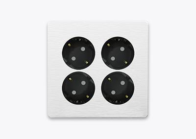 2gang+2gang socket outlet