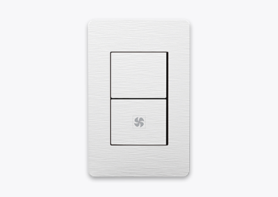 2gang 1way switch (Fan)