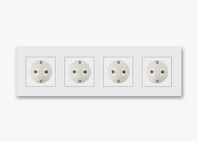 4gang socket outlet